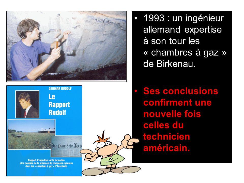 1993 : un ingénieur allemand expertise à son tour les « chambres à gaz » de Birkenau.