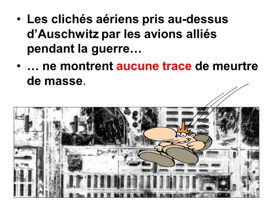 Les clichés aériens pris au-dessus d'Auschwitz par les avions alliés pendant la guerre…