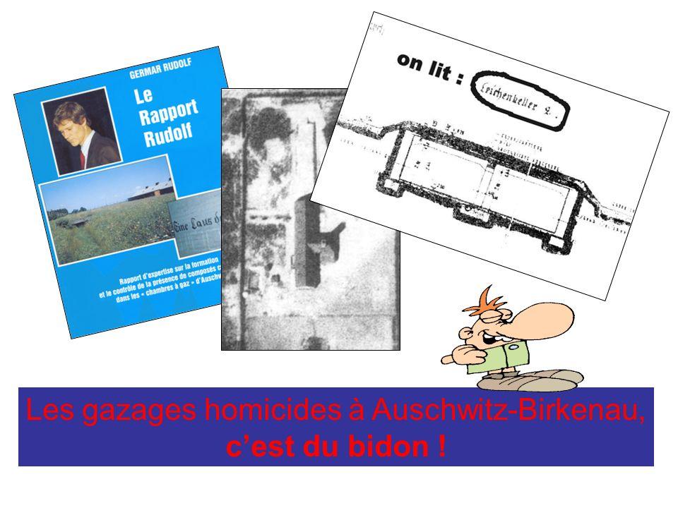 Les gazages homicides à Auschwitz-Birkenau, c'est du bidon !