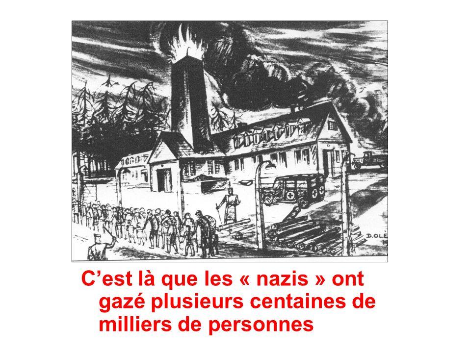 C'est là que les « nazis » ont gazé plusieurs centaines de milliers de personnes
