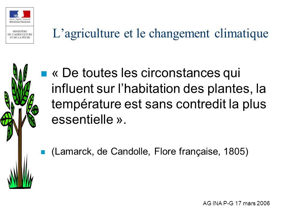 L'agriculture et le changement climatique
