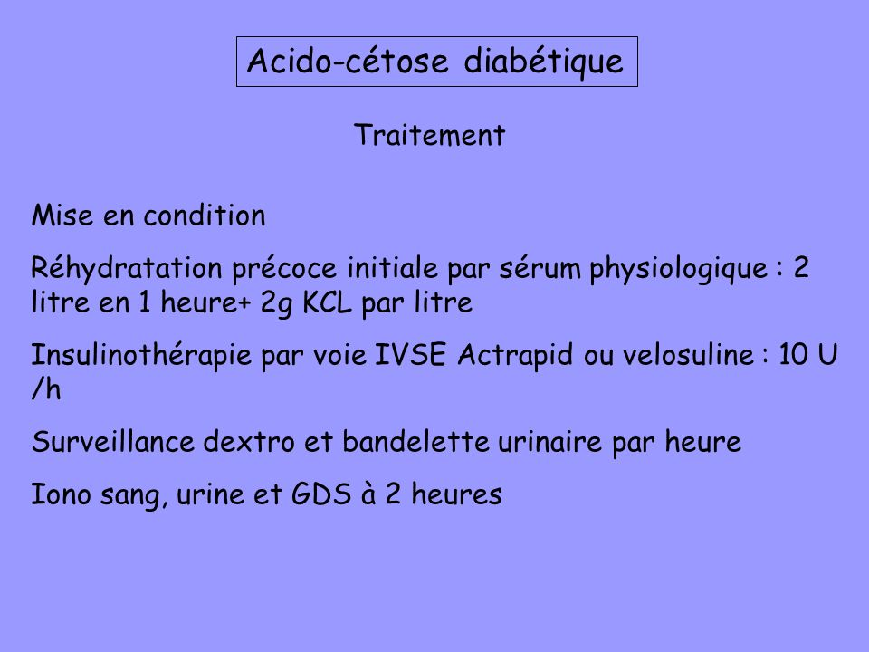 Acido-cétose diabétique