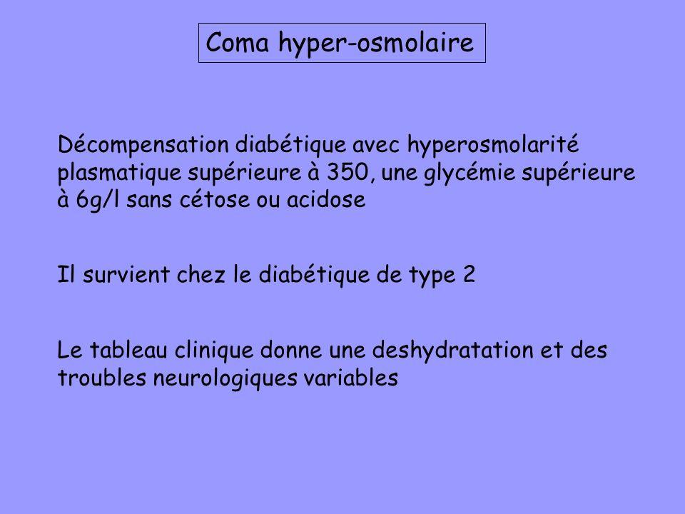Coma hyper-osmolaire