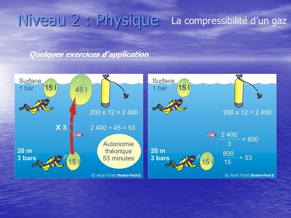 Niveau 2 : Physique La compressibilité d'un gaz