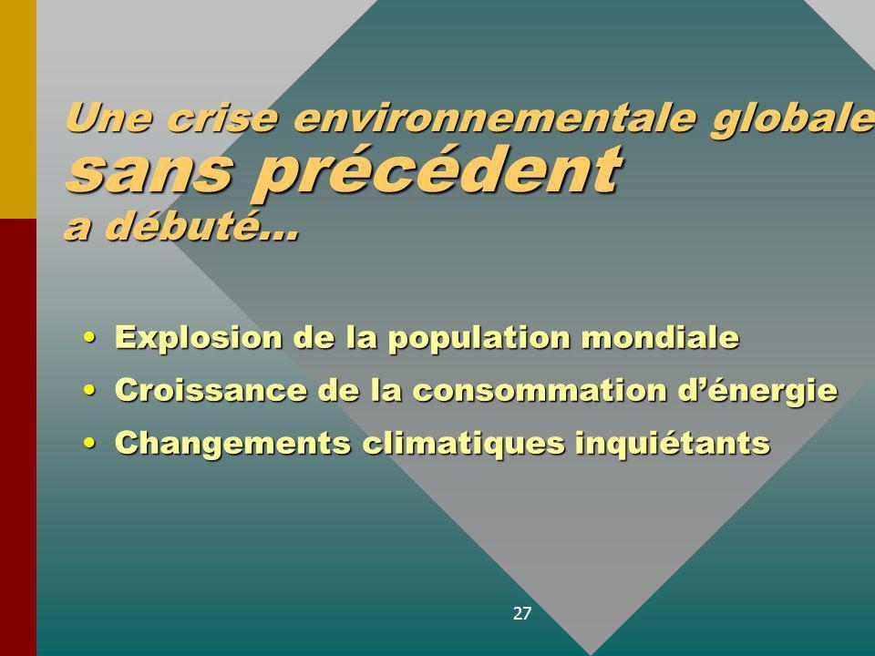 Une crise environnementale globale sans précédent a débuté...
