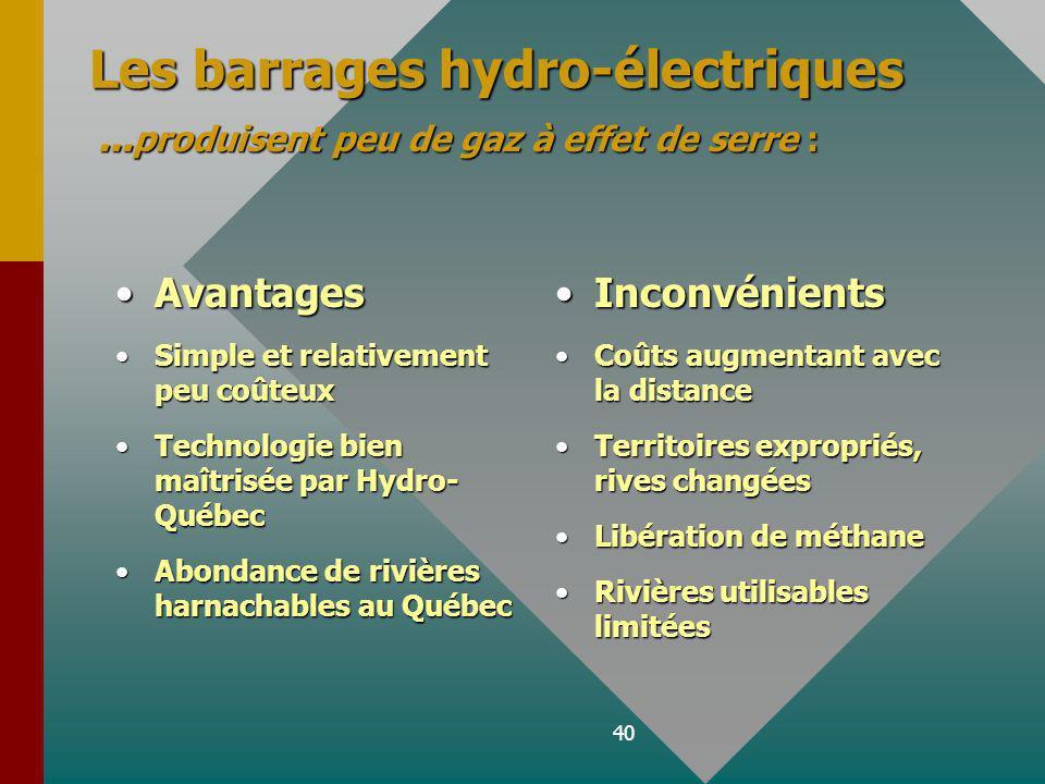 Les barrages hydro-électriques