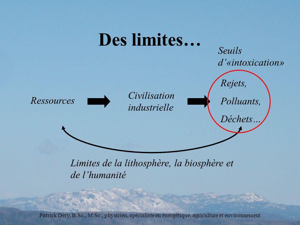 Des limites… Seuils d'«intoxication» Rejets, Polluants,