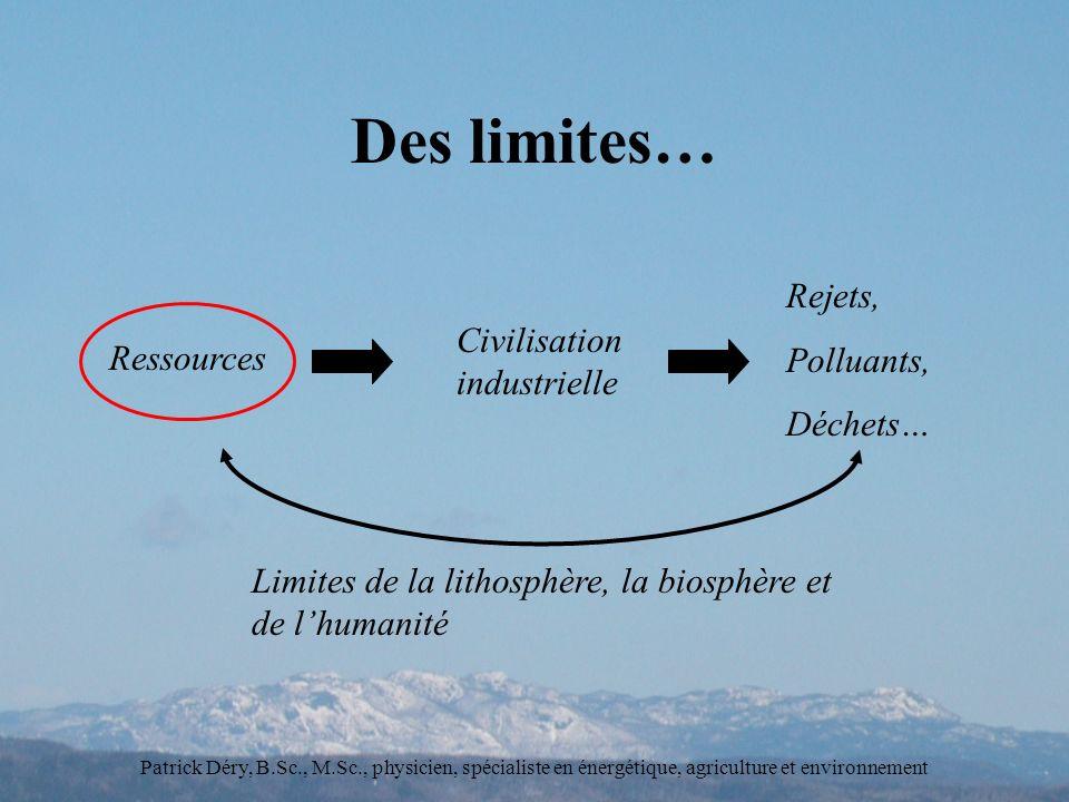 Des limites… Rejets, Polluants, Civilisation industrielle Déchets…
