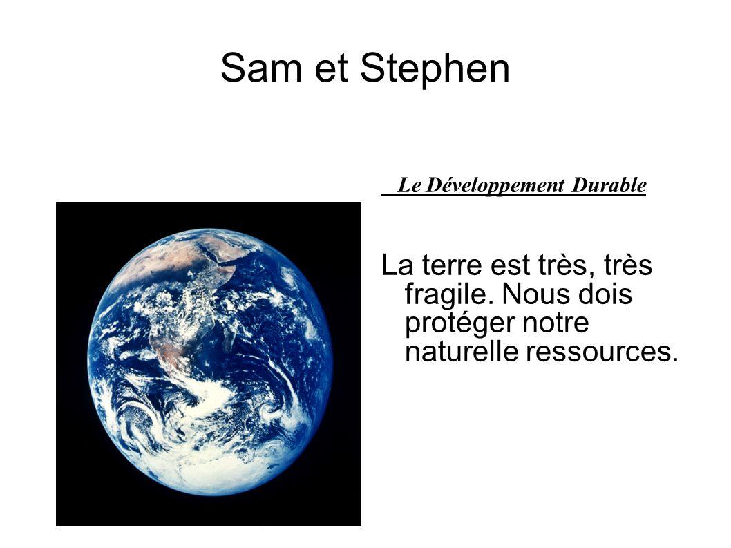 Sam et Stephen Le Développement Durable