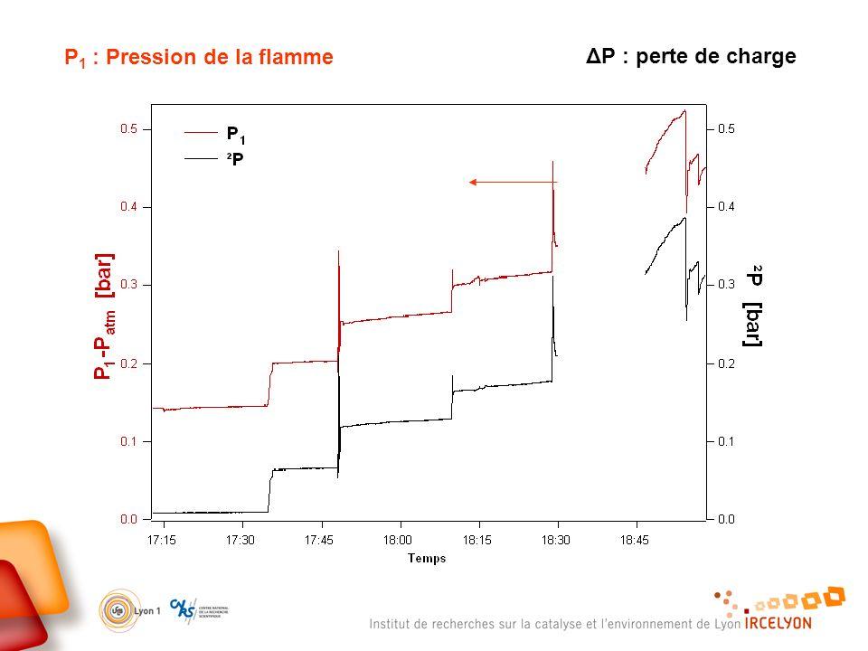 P1 : Pression de la flamme