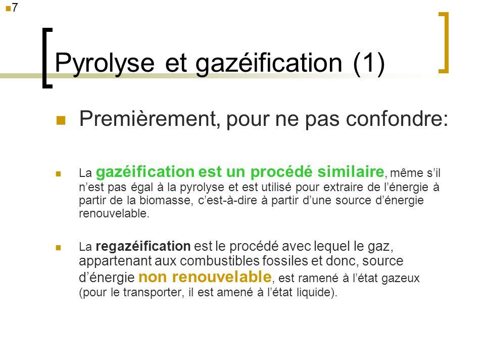 Pyrolyse et gazéification (1)