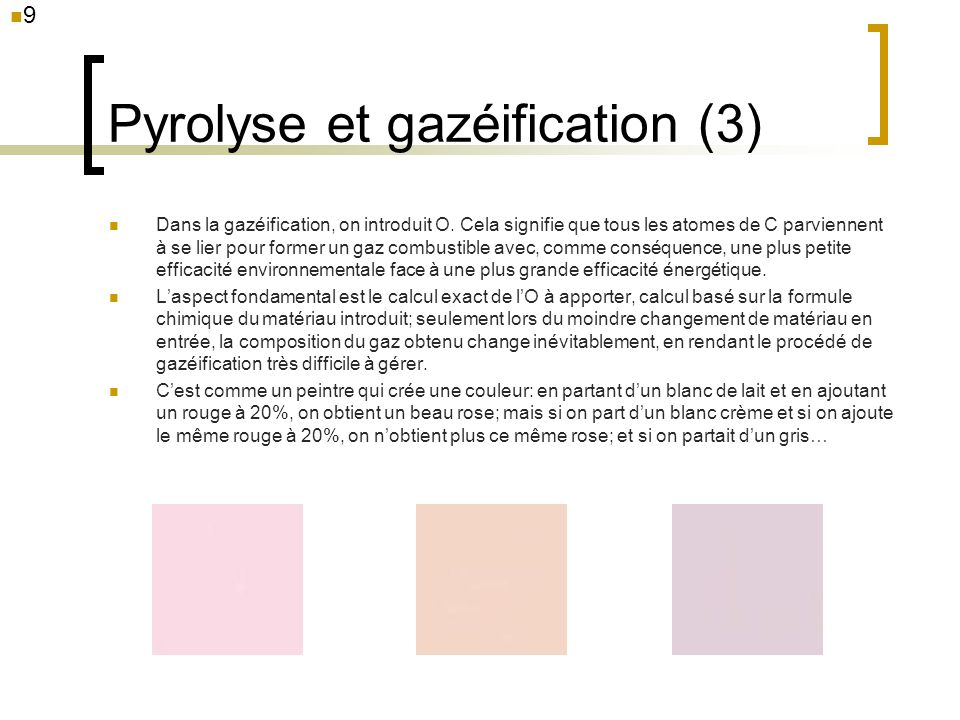 Pyrolyse et gazéification (3)