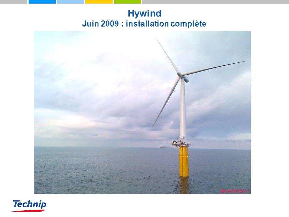 Hywind Juin 2009 : installation complète