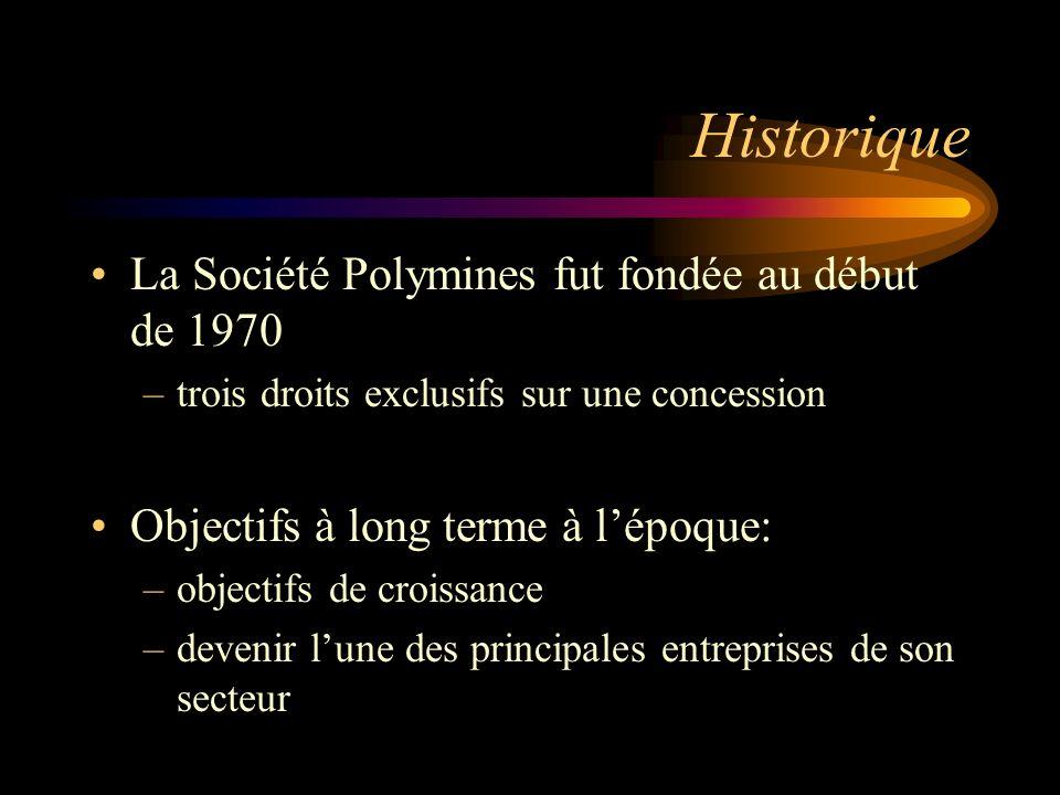 Historique La Société Polymines fut fondée au début de 1970