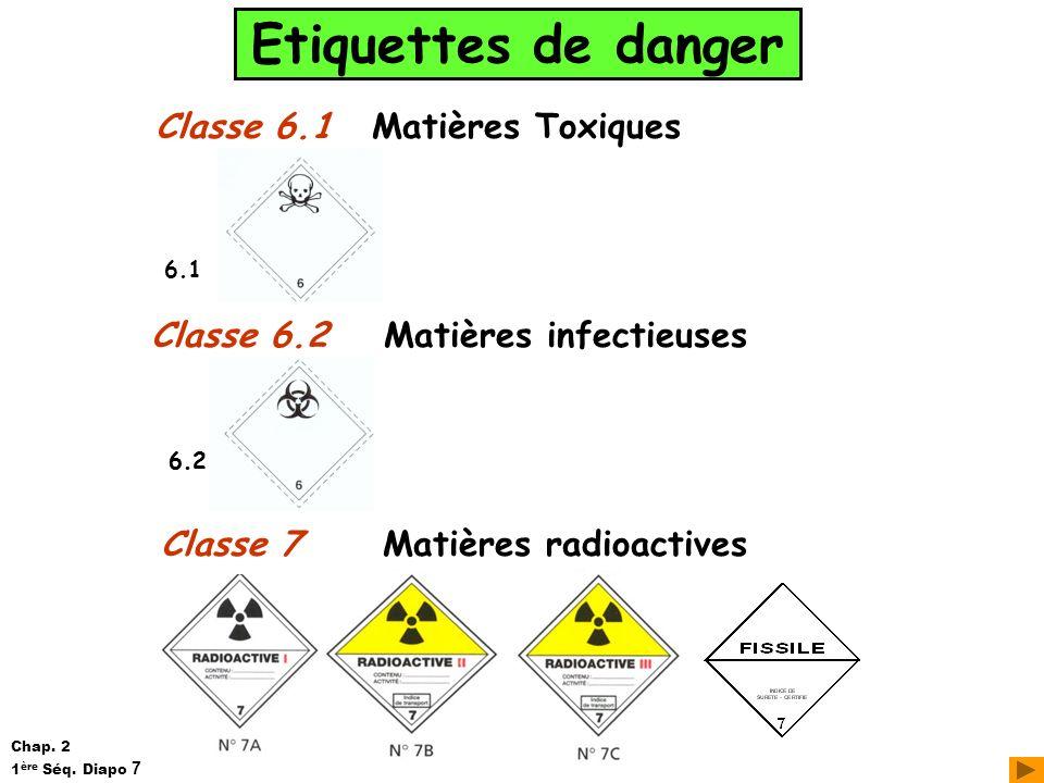 Matières infectieuses Matières radioactives
