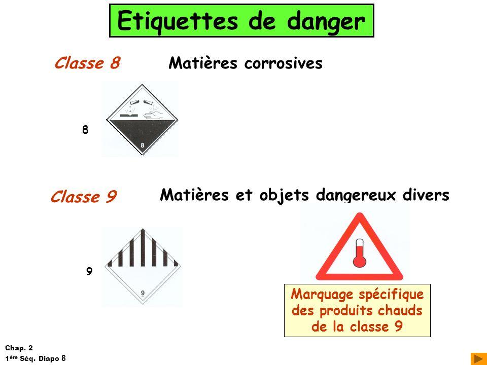 Matières et objets dangereux divers
