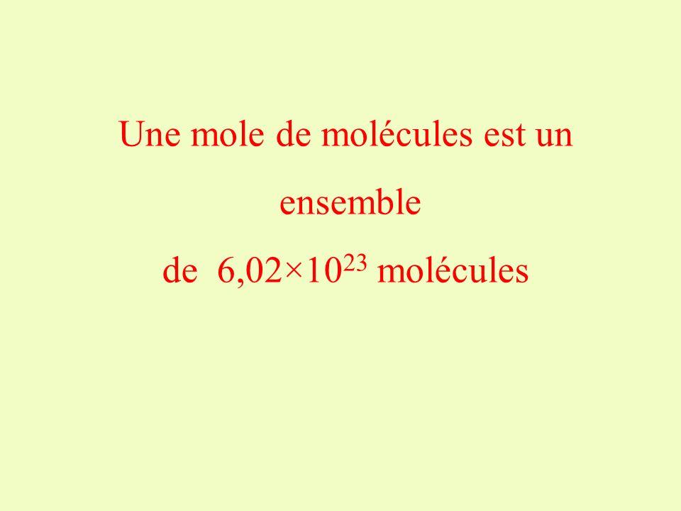 Une mole de molécules est un