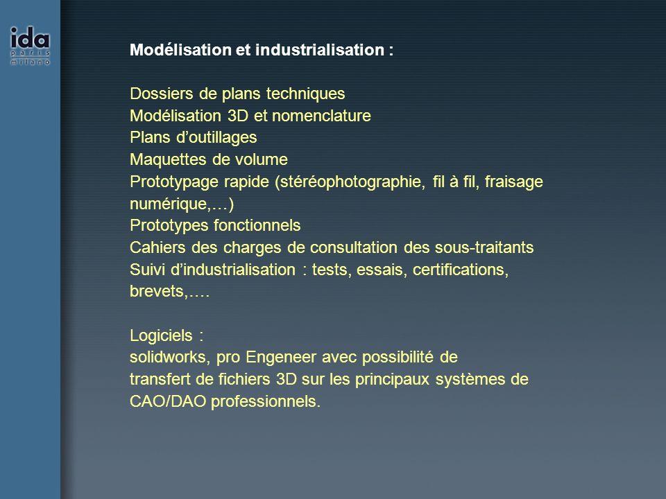 Modélisation et industrialisation :