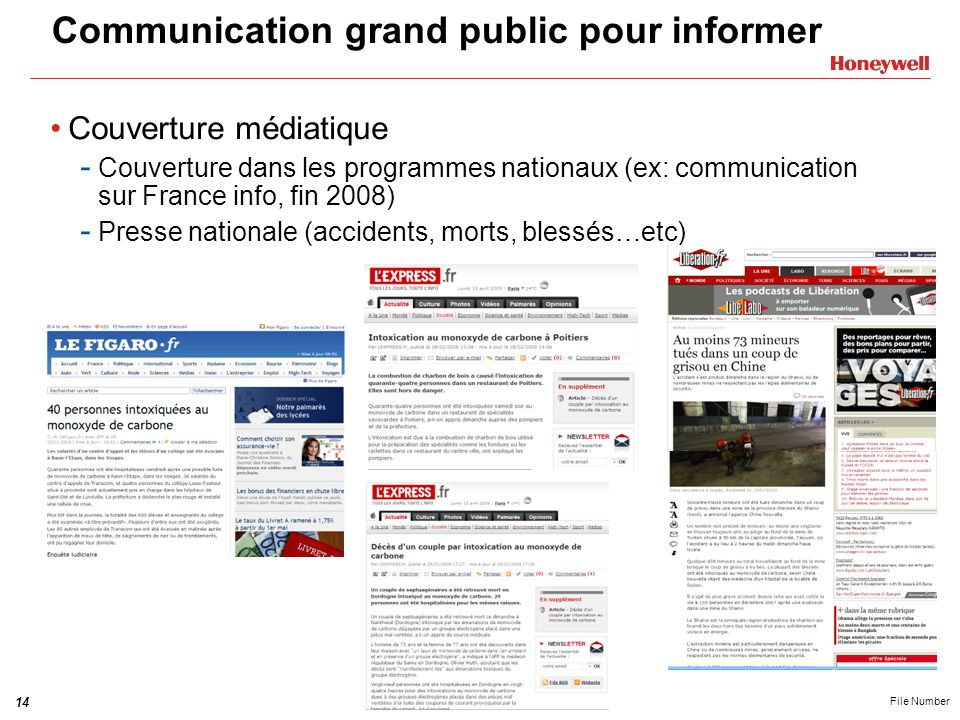 Communication grand public pour informer