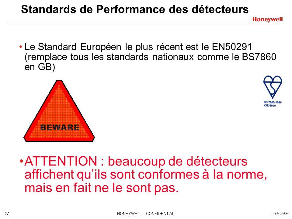 Standards de Performance des détecteurs