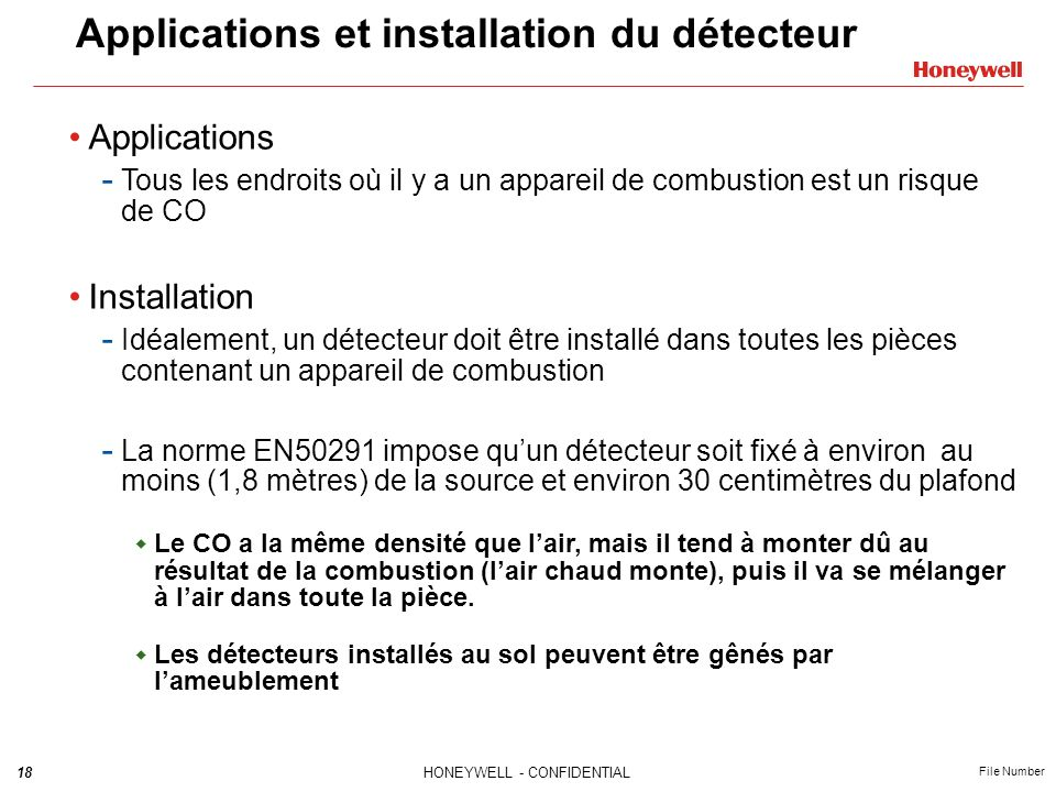 Applications et installation du détecteur