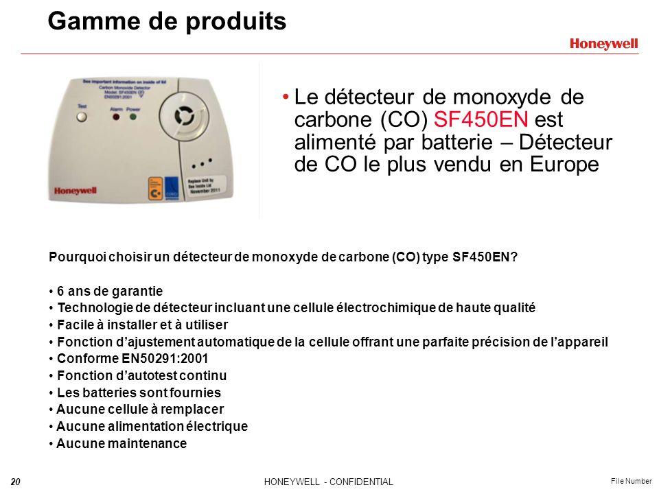 Gamme de produits Le détecteur de monoxyde de carbone (CO) SF450EN est alimenté par batterie – Détecteur de CO le plus vendu en Europe.