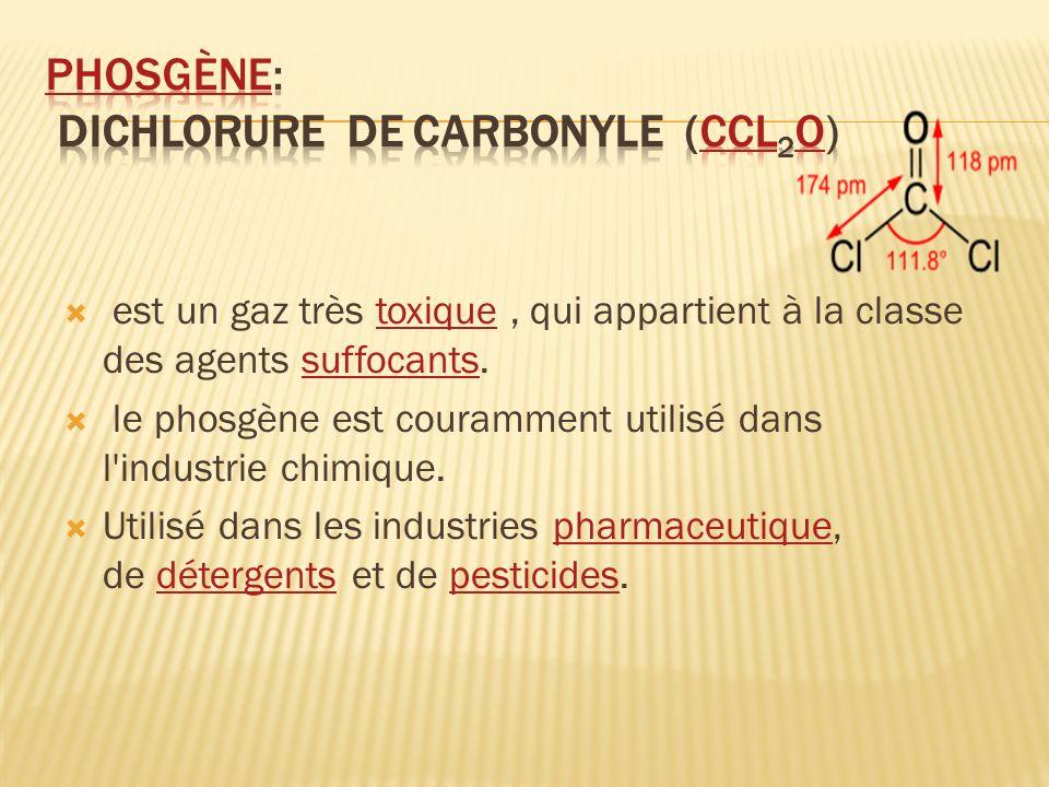 Phosgène: dichlorure de carbonyle (CCl2O)