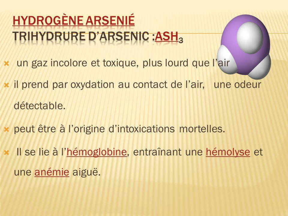 Hydrogène arsenié Trihydrure d'arsenic :AsH3