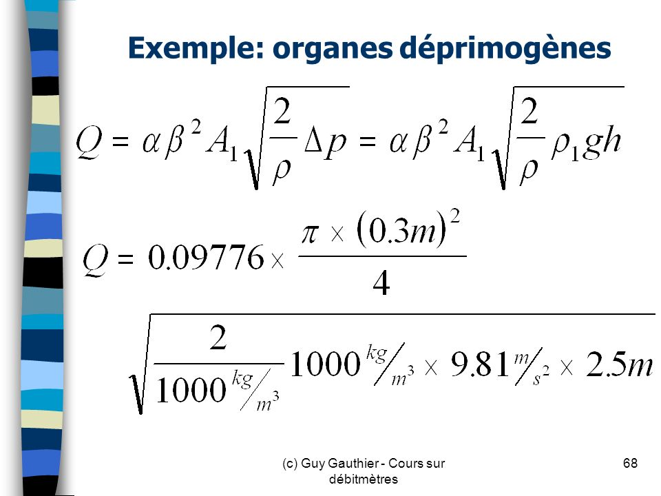 Exemple: organes déprimogènes