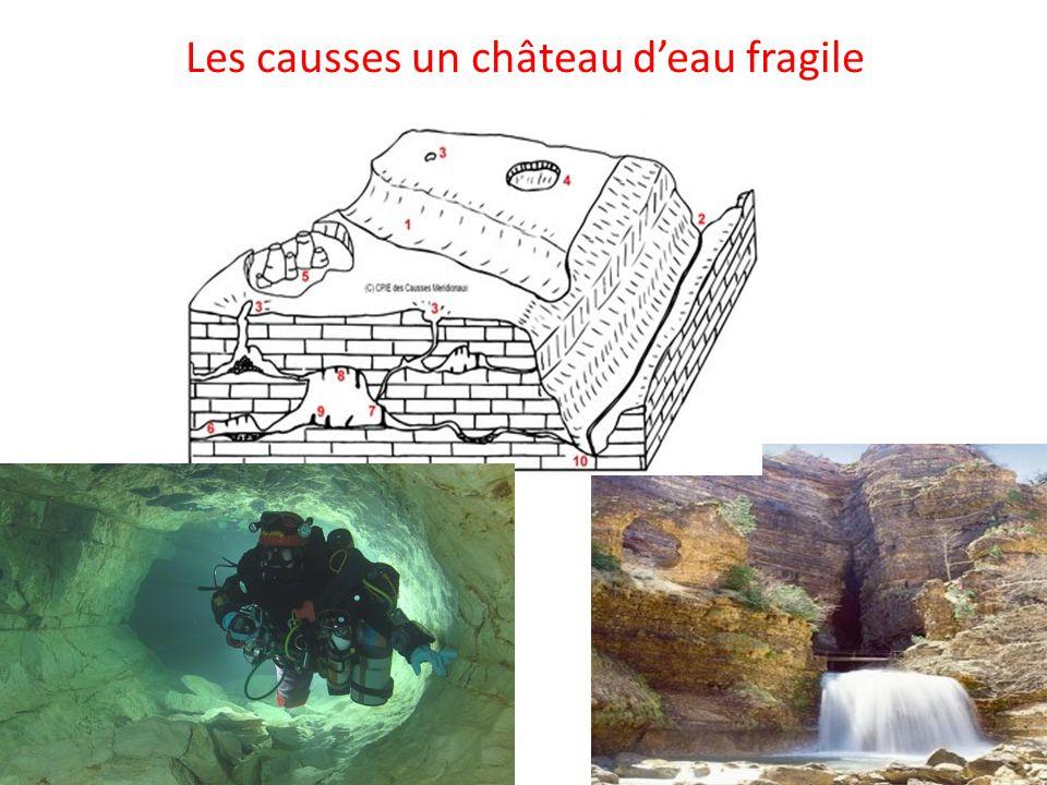 Les causses un château d'eau fragile
