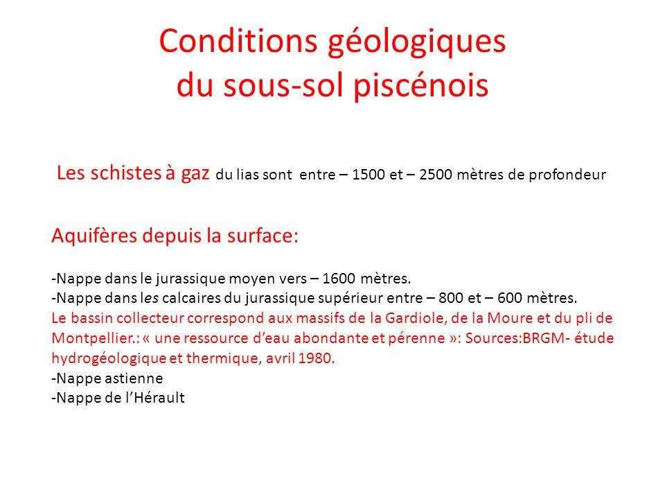 Conditions géologiques du sous-sol piscénois