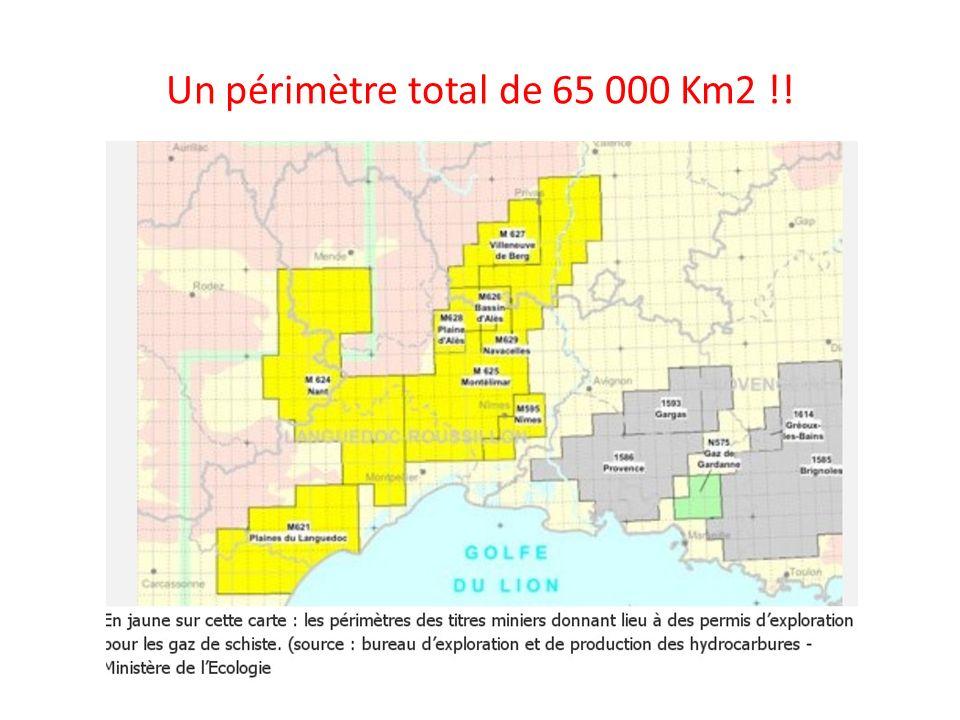 Un périmètre total de 65 000 Km2 !!