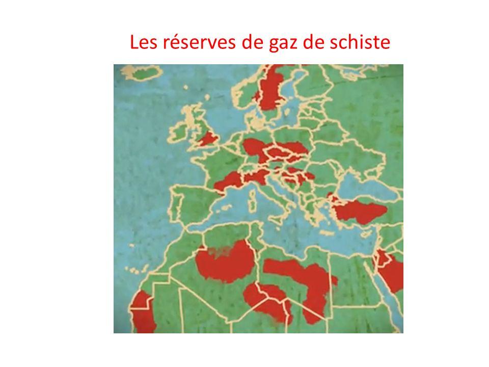 Les réserves de gaz de schiste
