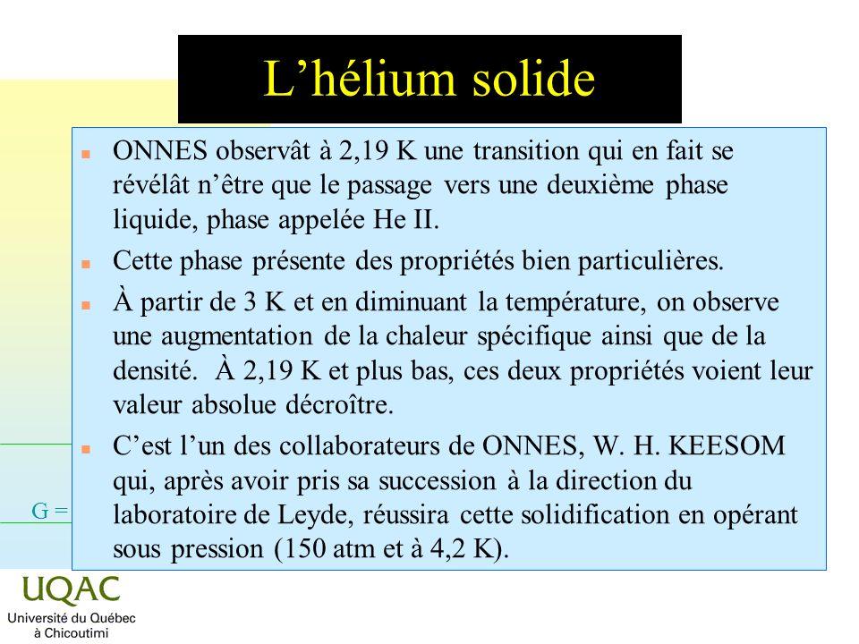 L'hélium solide