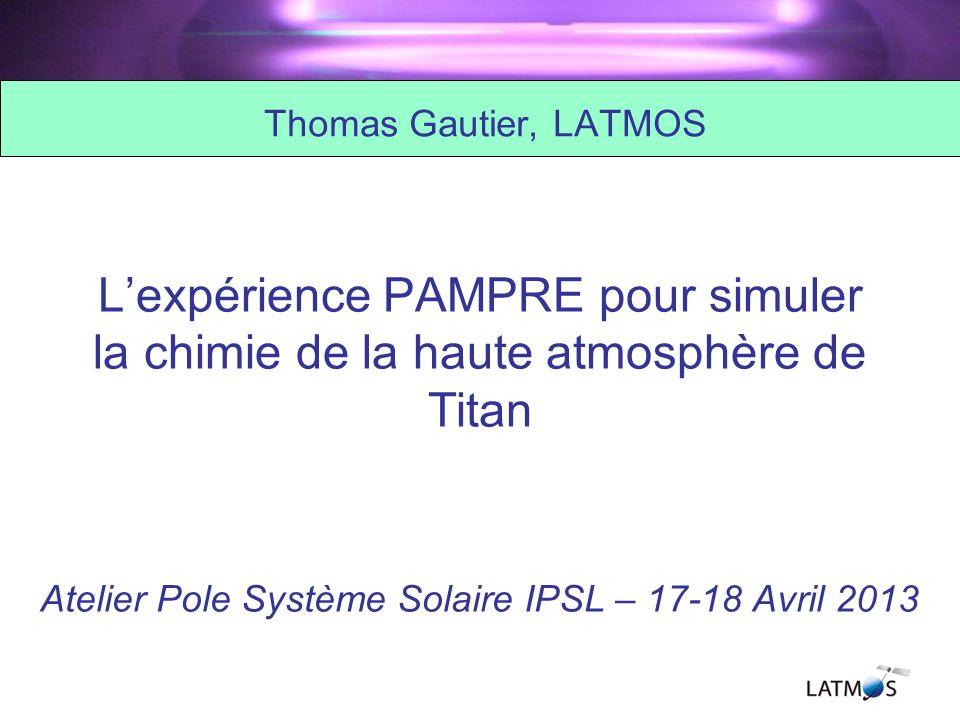 Atelier Pole Système Solaire IPSL – 17-18 Avril 2013