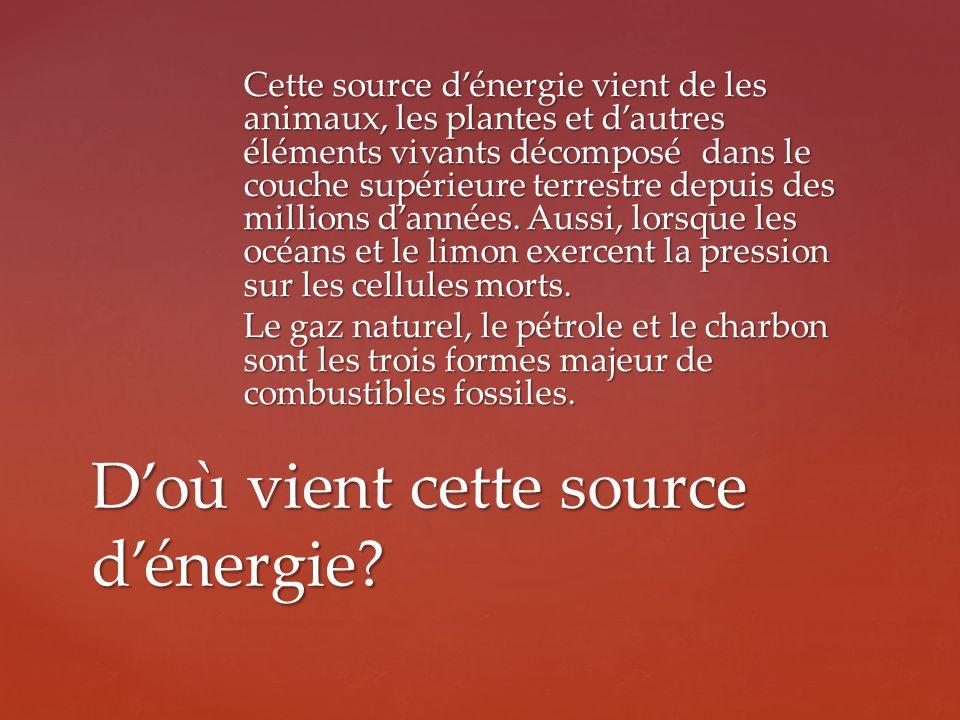 D'où vient cette source d'énergie