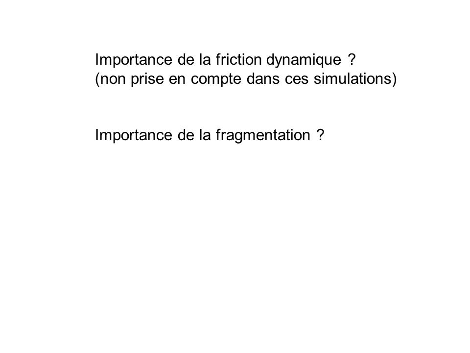 Importance de la friction dynamique