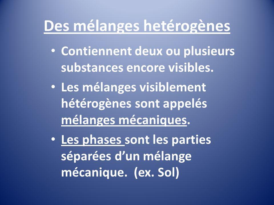 Des mélanges hetérogènes