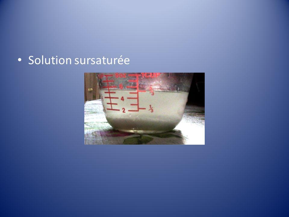 Solution sursaturée
