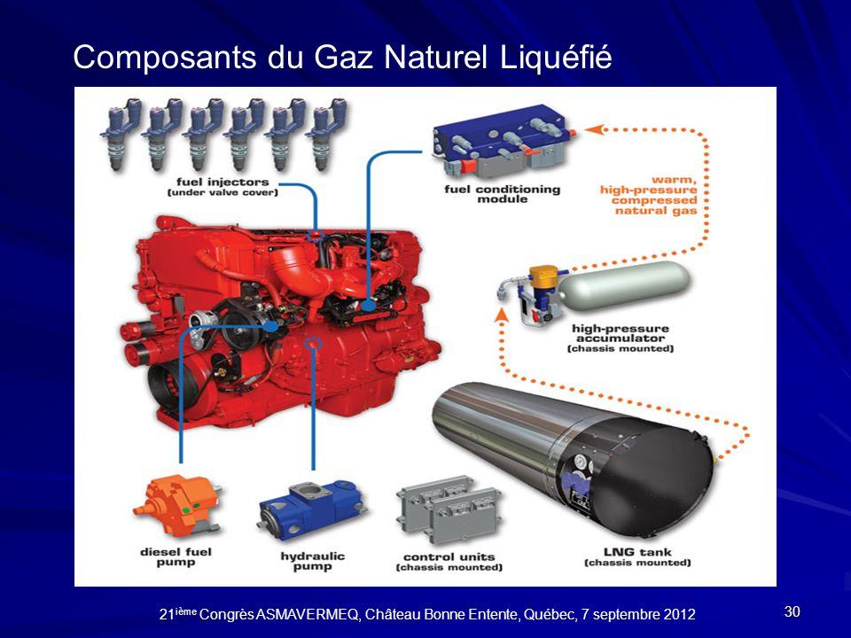 Composants du Gaz Naturel Liquéfié