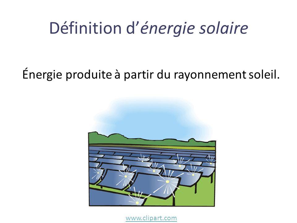 Définition d'énergie solaire