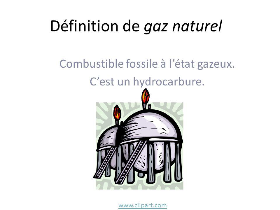 Définition de gaz naturel