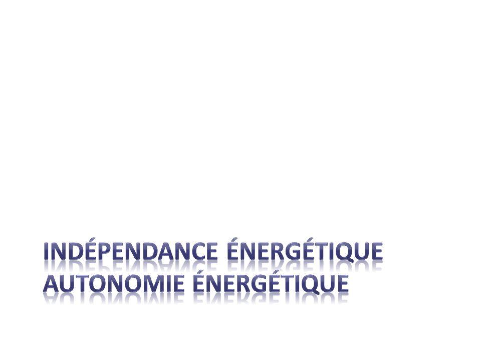 Indépendance énergétique autonomie énergétique