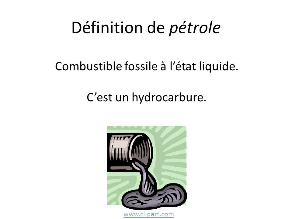 Combustible fossile à l'état liquide.