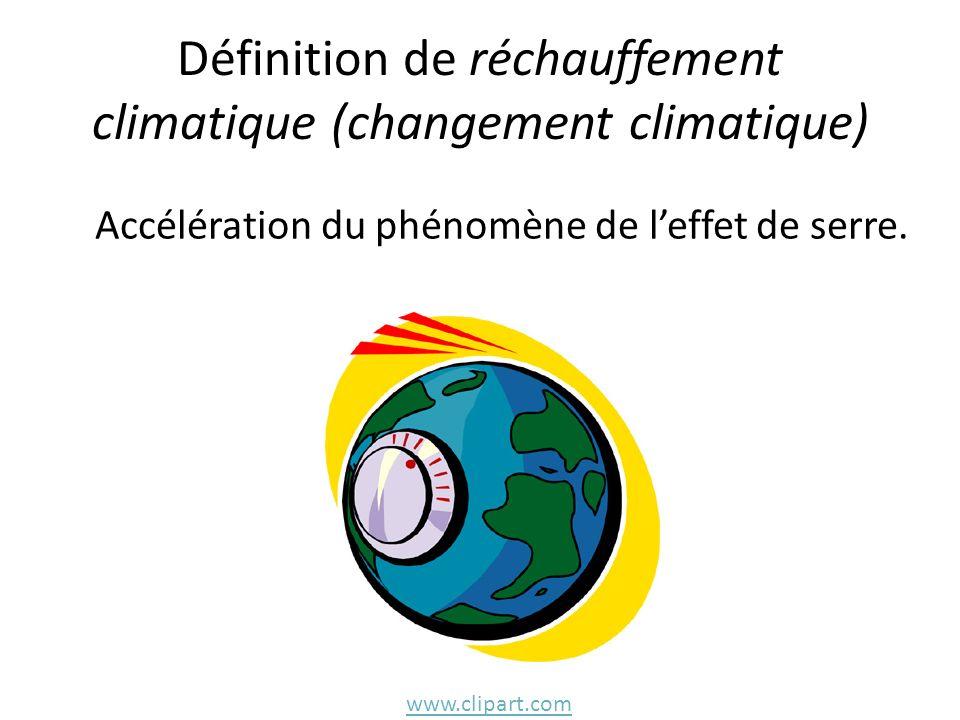 Définition de réchauffement climatique (changement climatique)