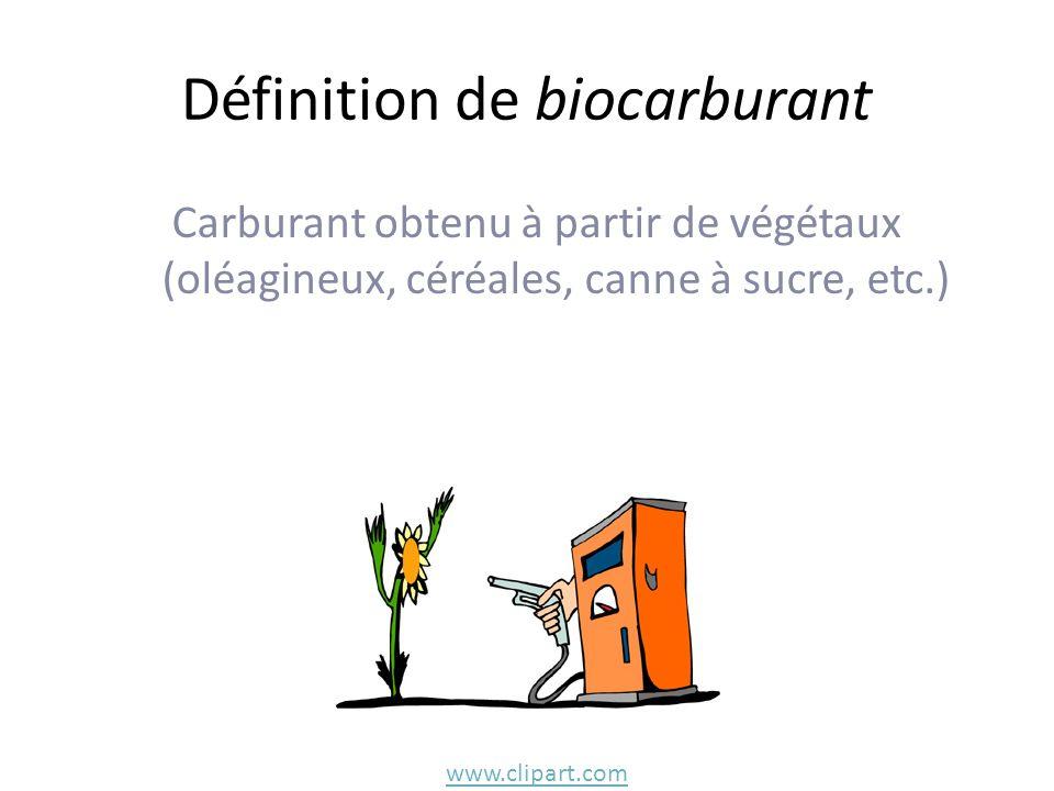 Définition de biocarburant