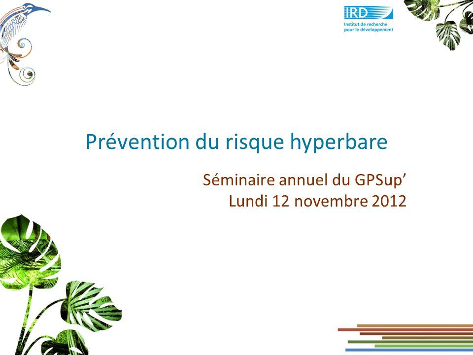 Prévention du risque hyperbare
