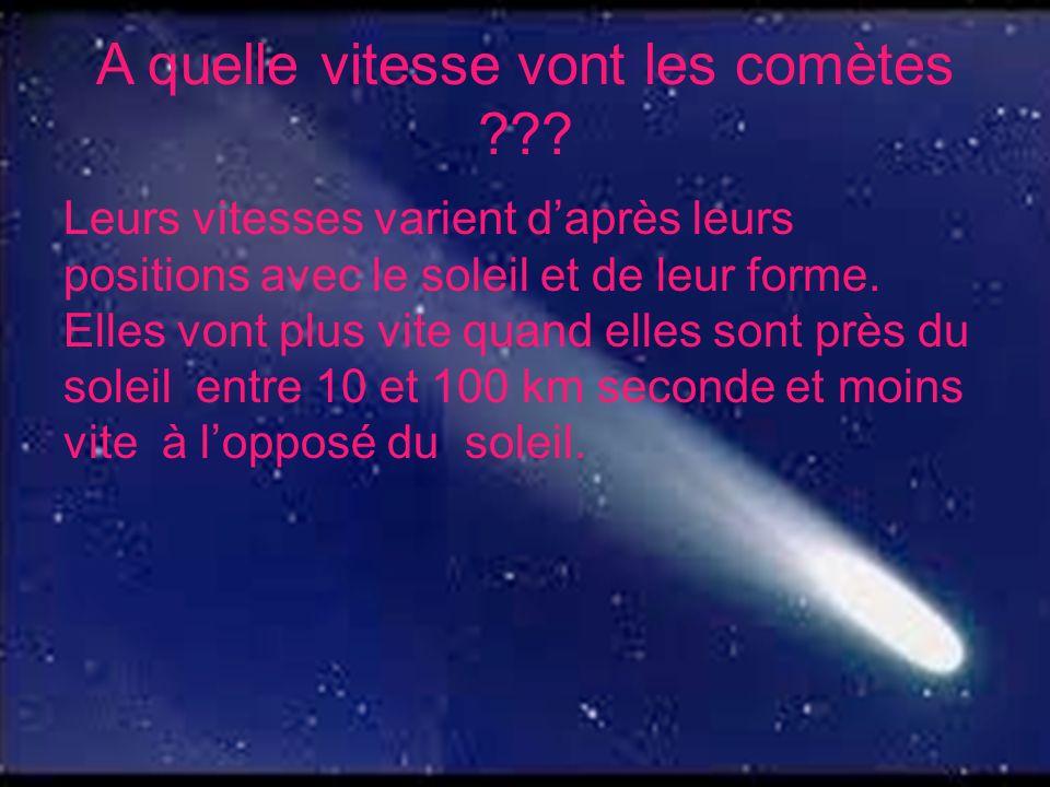 A quelle vitesse vont les comètes