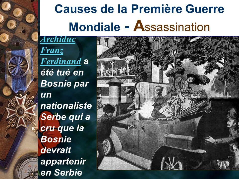 Causes de la Première Guerre Mondiale - Assassination