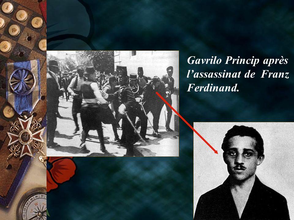 Gavrilo Princip après l'assassinat de Franz Ferdinand.